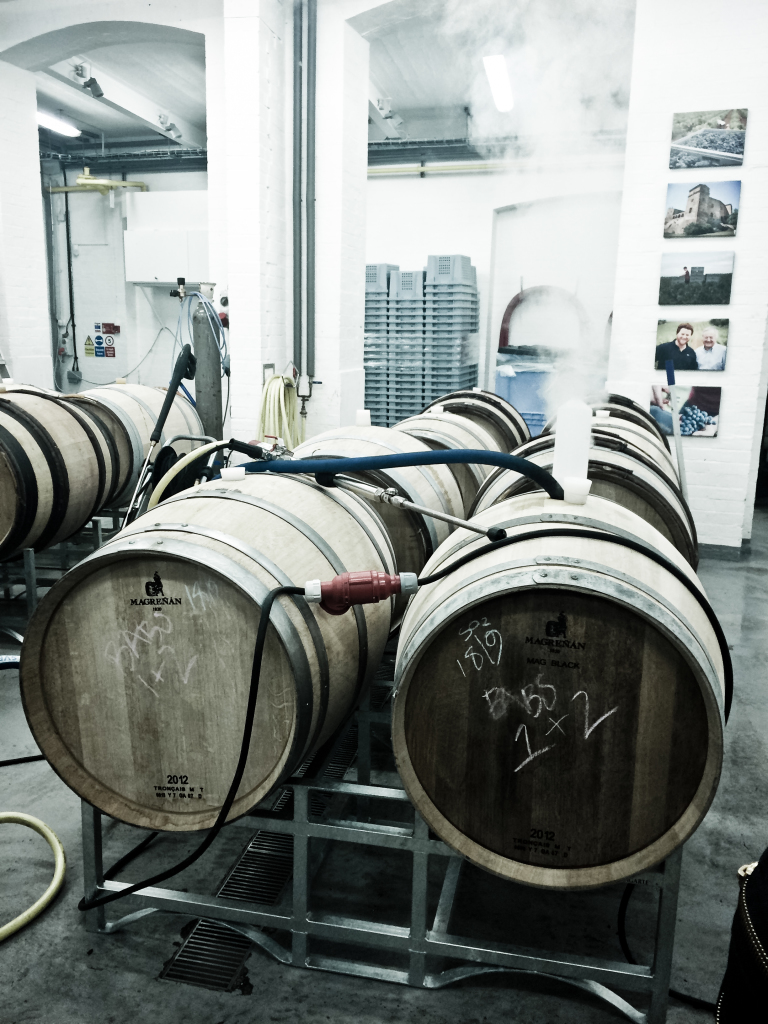 watching wine being made