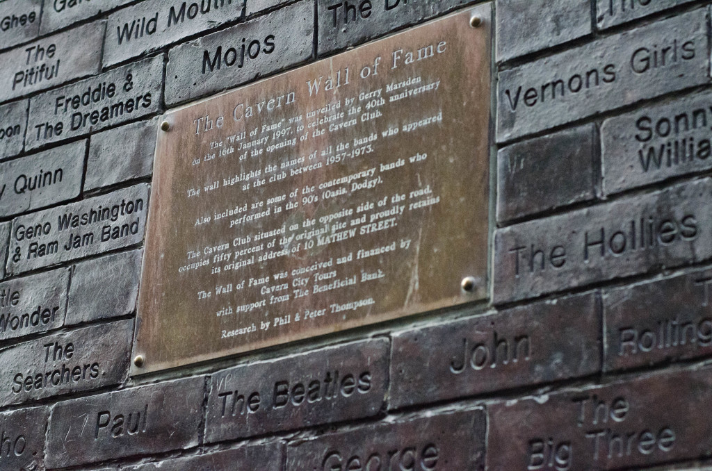 New and Old - Names of performers at The Cavern