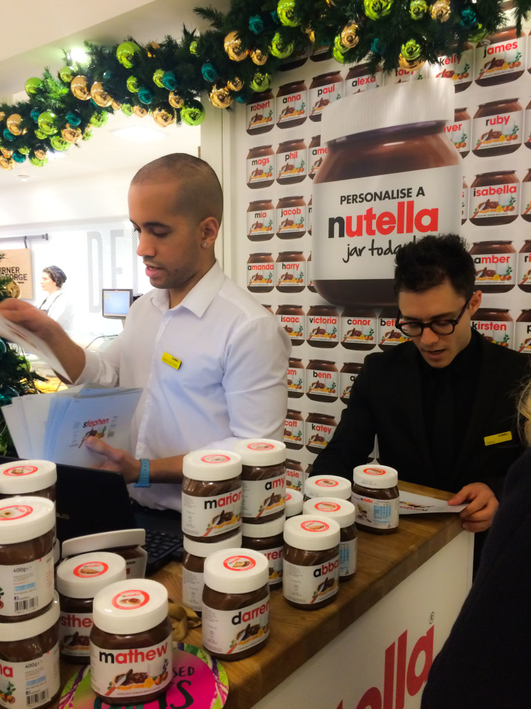 Selfridges Nutella